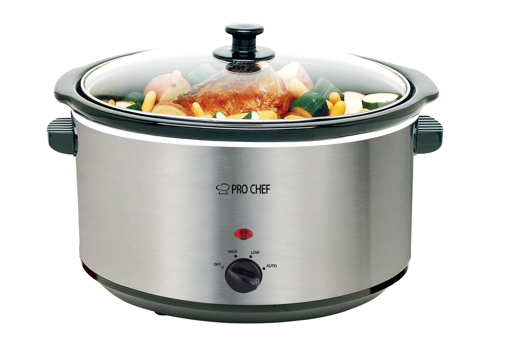 Pro Chef Oval Stainless Steel Slow Cooker